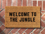 Welcome To The Jungle Funny Family Doormat - Nickel and Birch