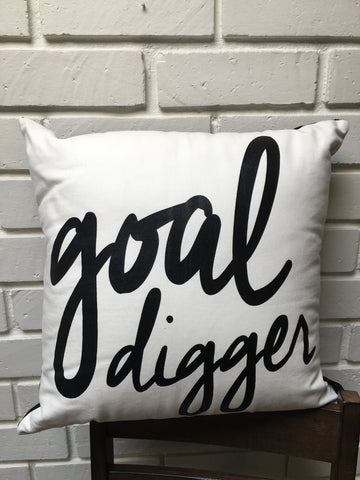 Goal Digger Handcrafted Pillow - Nickel and Birch
