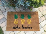 Aloha Beaches Pineapple Custom Doormat - Nickel and Birch
