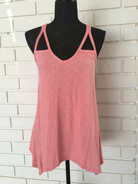 Ribbed Cut Out Tank Top - Nickel and Birch