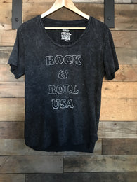 Rock & Roll Mineral Wash Tee - Nickel and Birch