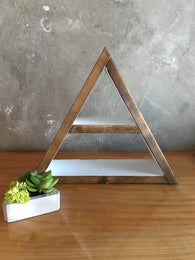 Medium Triangle Shelf - Nickel and Birch