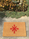 Simple Snowflake Holiday Doormat - Nickel and Birch