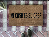 Mi Casa Es Su Casa Handpainted Doormat - Nickel and Birch