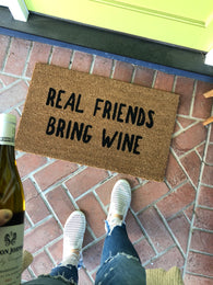 Funny Wine Doormat - Nickel and Birch