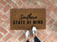 Southern Doormat / Funny Doormat / Custom Welcome Mat / Personalized Doormat - Nickel and Birch