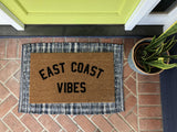East Coast Vibes Custom Doormat - Nickel and Birch