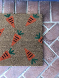 Custom Carrot Easter Doormat - Nickel and Birch