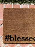 Hashtag Blessed Religious Doormat - Nickel and Birch
