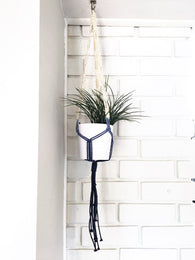 Dip Dye Macrame Plant Hanger - Nickel and Birch