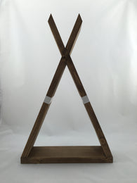 Teepee Shelf - Nickel and Birch