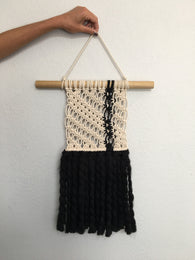 Rift Macrame Wall Hanging - Nickel and Birch