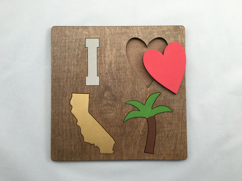 California Love Puzzle - Nickel and Birch