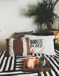 Namaste In Bed Pillow Case Set - Nickel and Birch