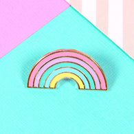 Enamel Pastel Rainbow pin - Nickel and Birch
