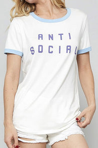 Anti Social Graphic Tee - Nickel and Birch