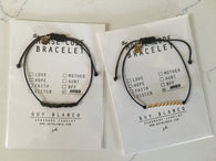 Zodiac Sign Morse Code Bracelet - Nickel and Birch