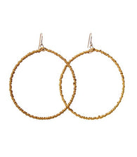 Everyday Beaded Hoop Earrings - Nickel and Birch
