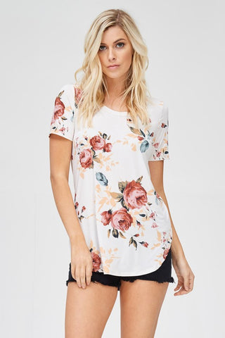 Floral Pattern Tee - Nickel and Birch