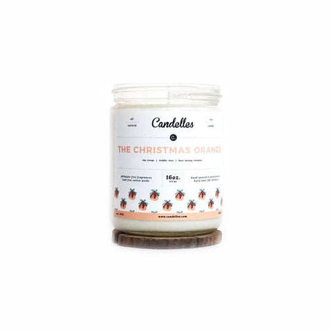 Christmas Orange 16oz. Soy Wax Candle - Nickel and Birch