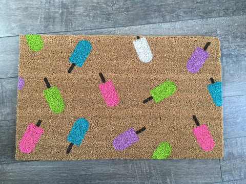 Summer Popsicle Doormat - Nickel and Birch