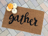 Gather Script Doormat - Nickel and Birch