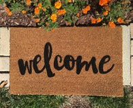 Script Welcome Doormat - Nickel and Birch