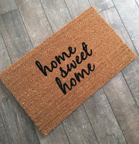 Home Sweet Home Doormat - Nickel and Birch