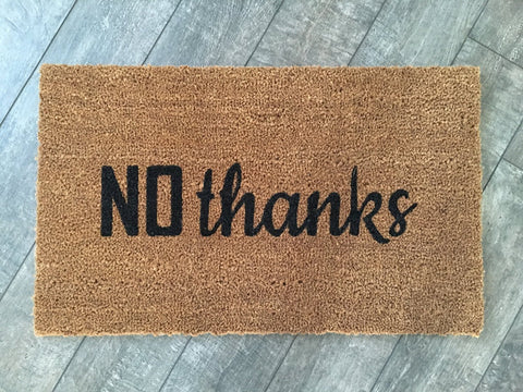 No thanks Welcome Mat - Nickel and Birch