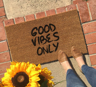 Good Vibes Only Doormat - Nickel and Birch