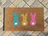 Bunny Hop Custom Easter Doormat - Nickel and Birch