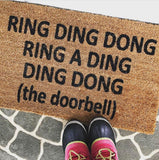 Ring Ding Dong Funny Doormat / Rap Doormat /Funny Doormat / Rude Doormat / Doorbell Doormat - Nickel and Birch