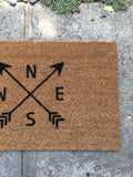 Modern Arrow Doormat - Nickel and Birch
