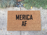 MERICA AF Doormat - Nickel and Birch