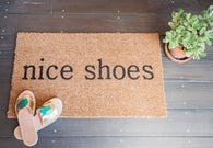 nice shoes Funny Doormat - Nickel and Birch