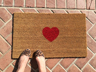 Cute and Simple Custom Heart Doormat - Nickel and Birch