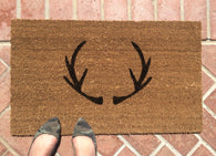 Rustic Style Antler doormat - Nickel and Birch