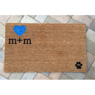 Custom Initials Doormat - Nickel and Birch