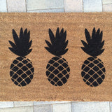 Pineapple Trio Doormat - Nickel and Birch