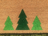 Tree Trio Holiday Doormat - Nickel and Birch