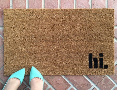 hi. Welcome Mat - Nickel and Birch