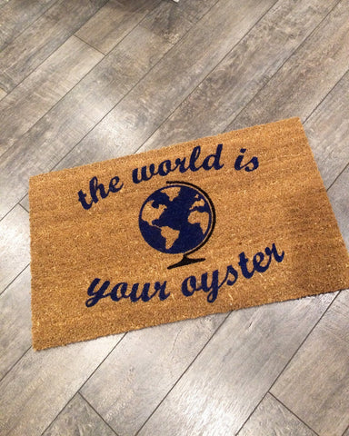 The World is Your Oyster Doormat - Nickel and Birch