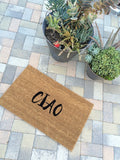CIAO welcome mat - Nickel and Birch