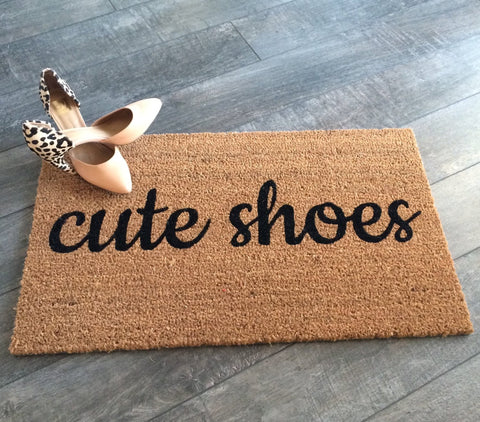 Cute Shoes Doormat - Nickel and Birch