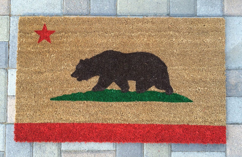 California Bear Flag Doormat - Nickel and Birch