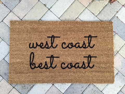West Coast Best Coast Doormat - Nickel and Birch