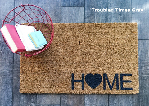 Simple Home Doormat - Nickel and Birch