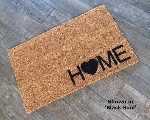 ... Heart And Home Doormat. Hand Painted, Outdoor Welcome Mat For Front Or  Back Entryway ...