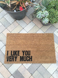I Like You Very Much Doormat - Nickel and Birch