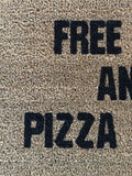 WIFI and PIZZA Doormat - Nickel and Birch